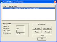 WinXPVirtualCDControlPanel screenshot